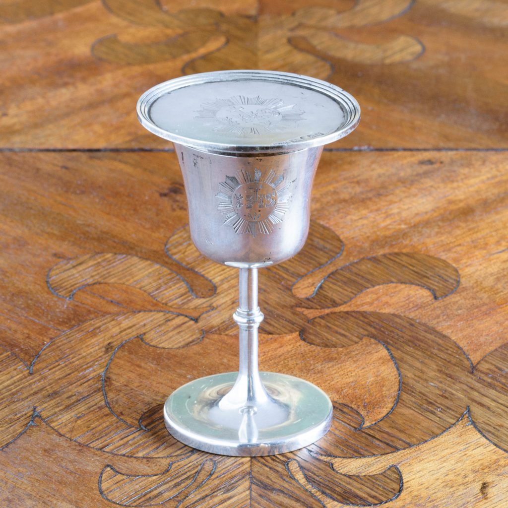 Early Victorian silver communion cup,-0