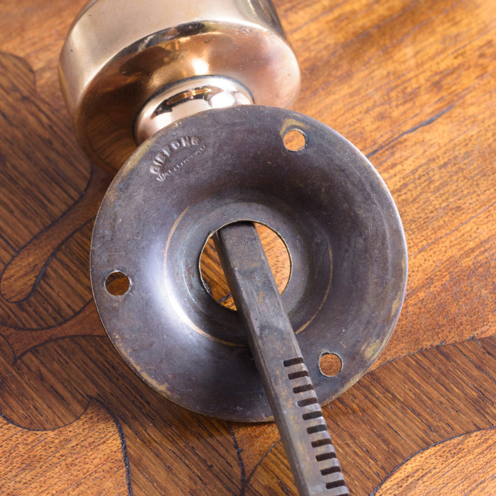 Gibbons of Wolverhampton rose brass door knobs,-112460
