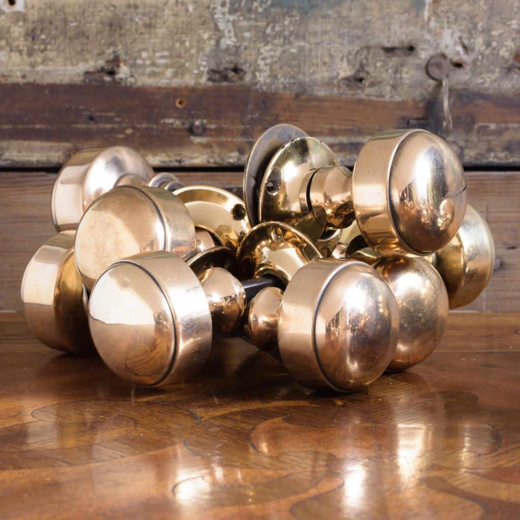 Gibbons of Wolverhampton rose brass door knobs,-112459
