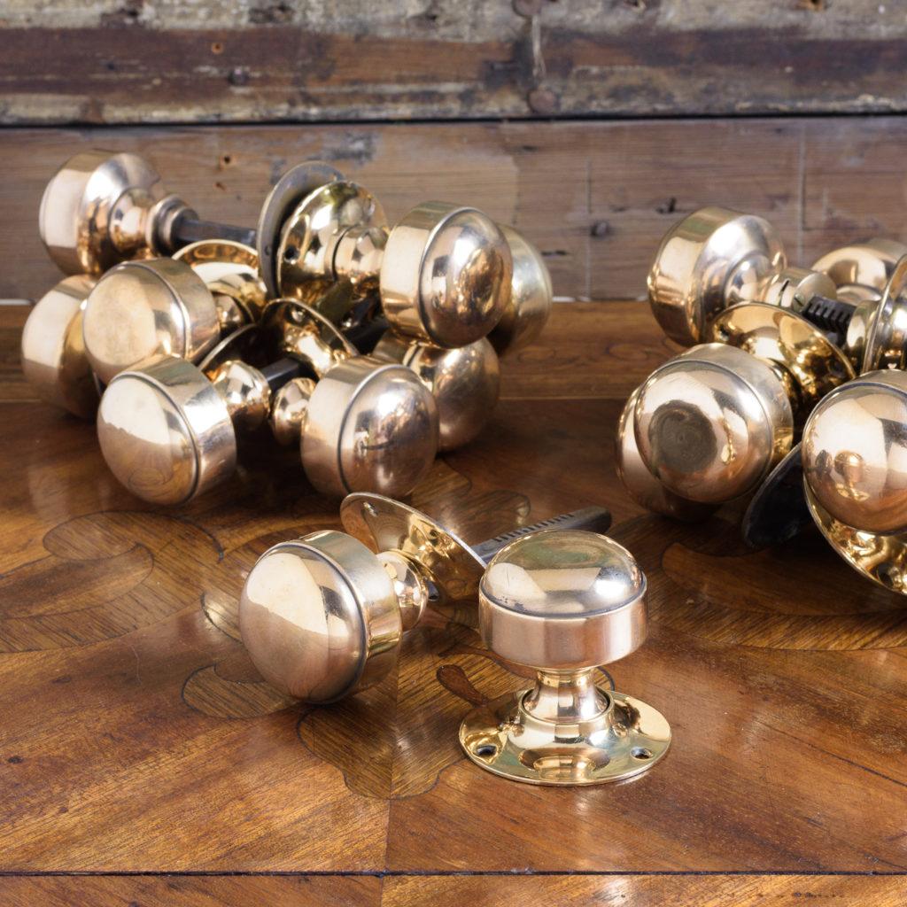 Gibbons of Wolverhampton rose brass door knobs,-112458
