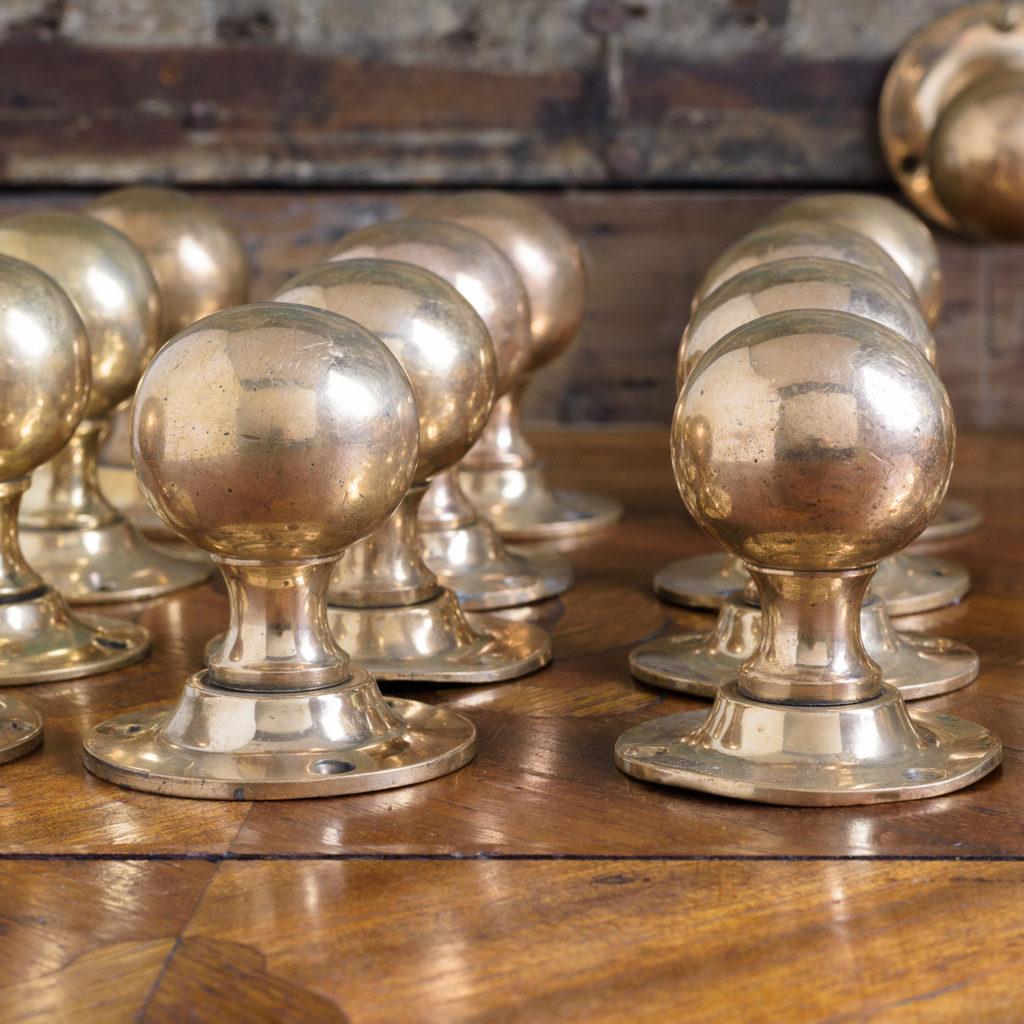 1920's rose brass door knobs,-112628