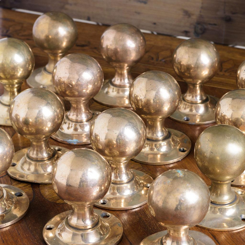 1920's rose brass door knobs,-112630