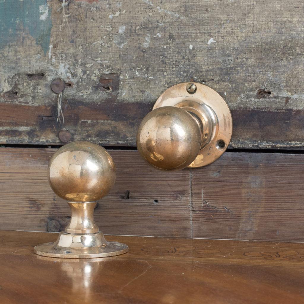 1920's rose brass door knobs,-112631