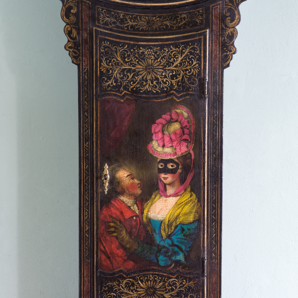 George III japanned tavern clock,-112717