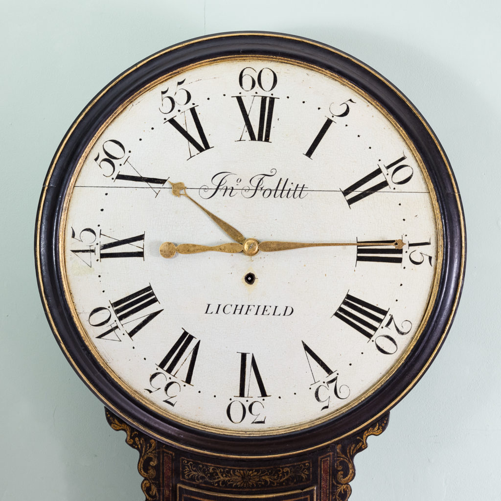 George III japanned tavern clock,-112718