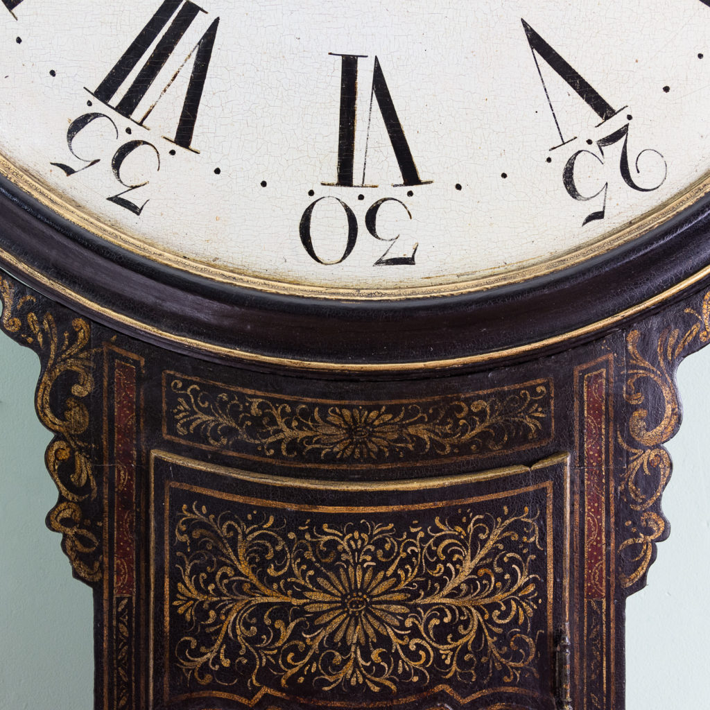 George III japanned tavern clock,-112724