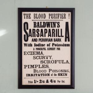 Original chemist shop advertising poster, Baldwins Sarsparilla-0