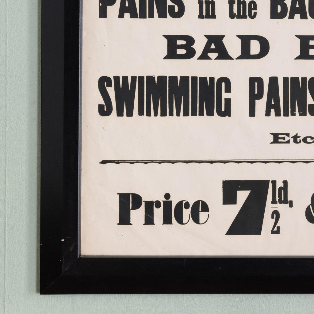 Original chemist shop advertising poster, Baldwin's Small Herb Pills-112639