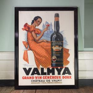 Original 1937 advertising poster, Valmya Grand Vin Genereux Doux-0