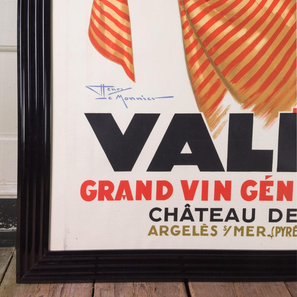 Original 1937 advertising poster, Valmya Grand Vin Genereux Doux-112557