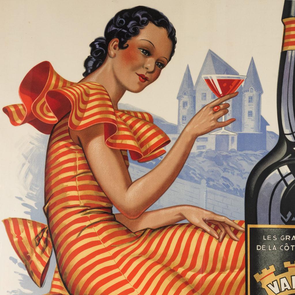Original 1937 advertising poster, Valmya Grand Vin Genereux Doux-112559