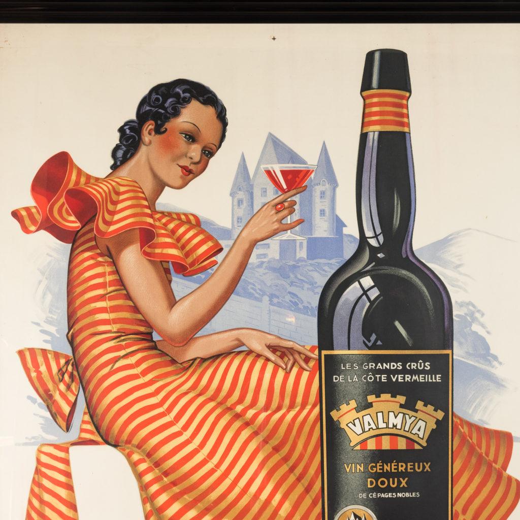 Original 1937 advertising poster, Valmya Grand Vin Genereux Doux-112554