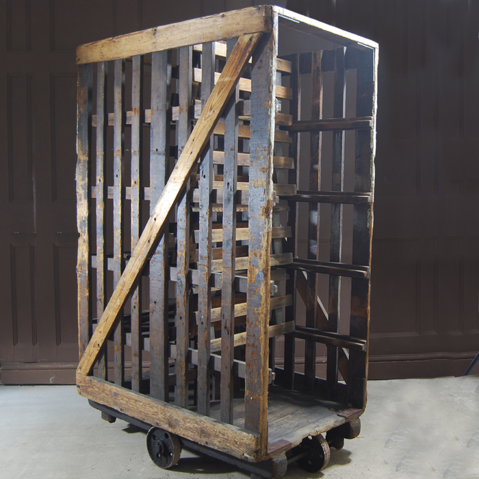 Factory trolley - shelves folded