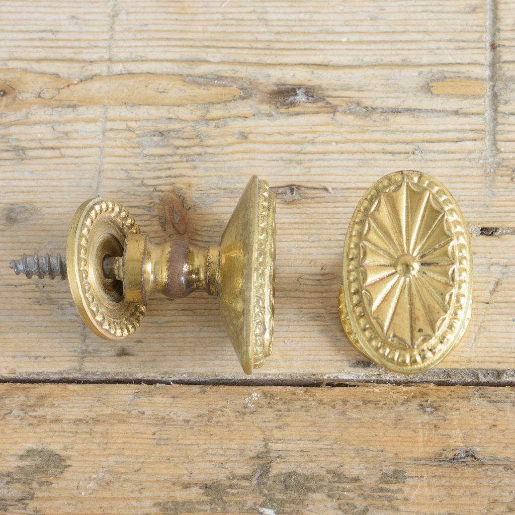 Gilt brass cupboard knobs,-113919