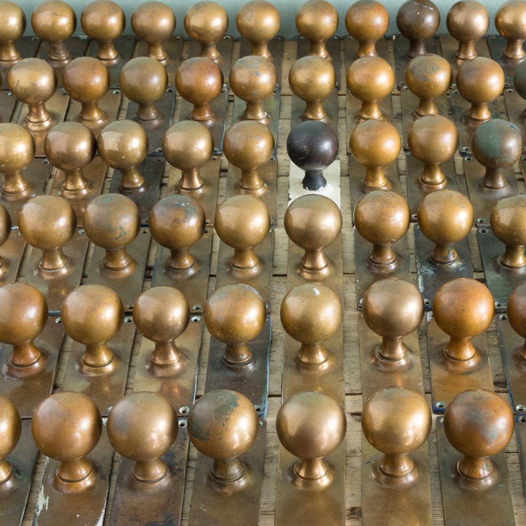1920s brass door knobs,-113201