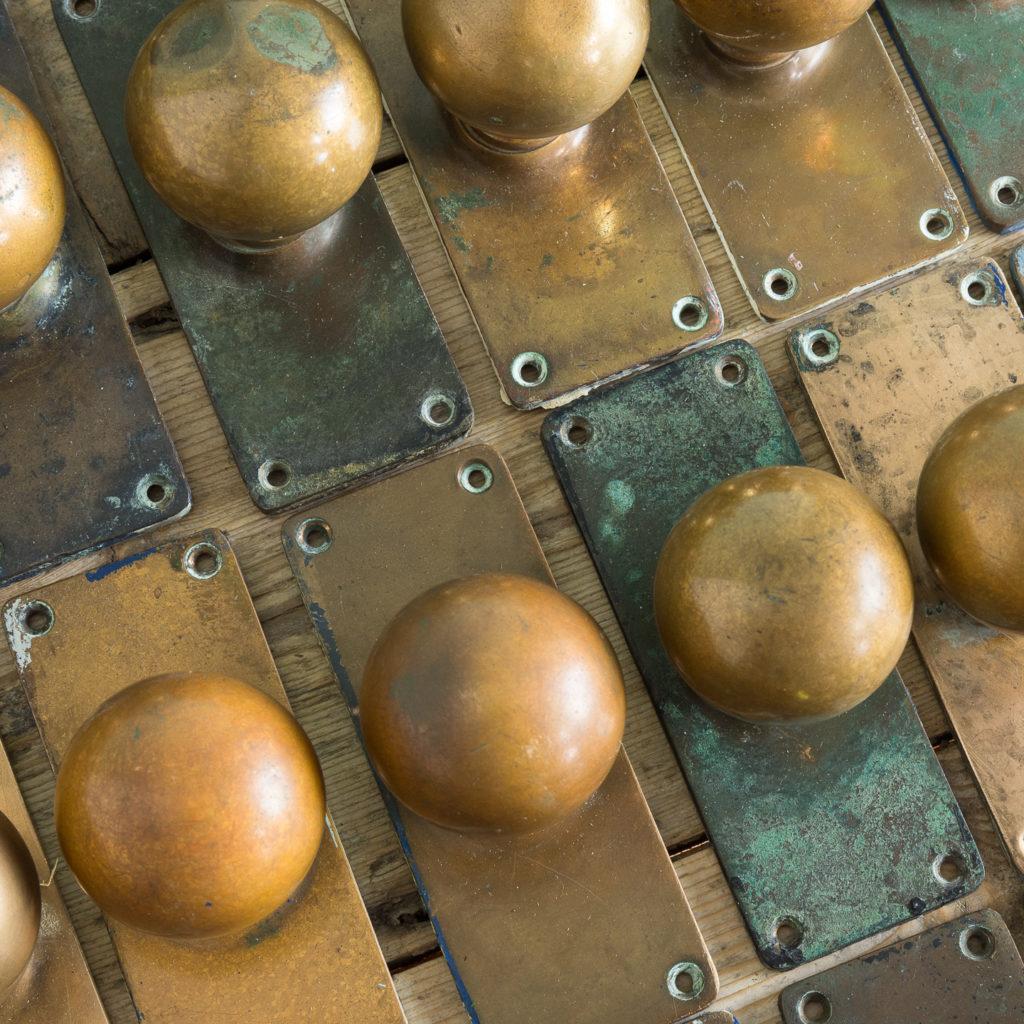 1920s brass door knobs,-113195