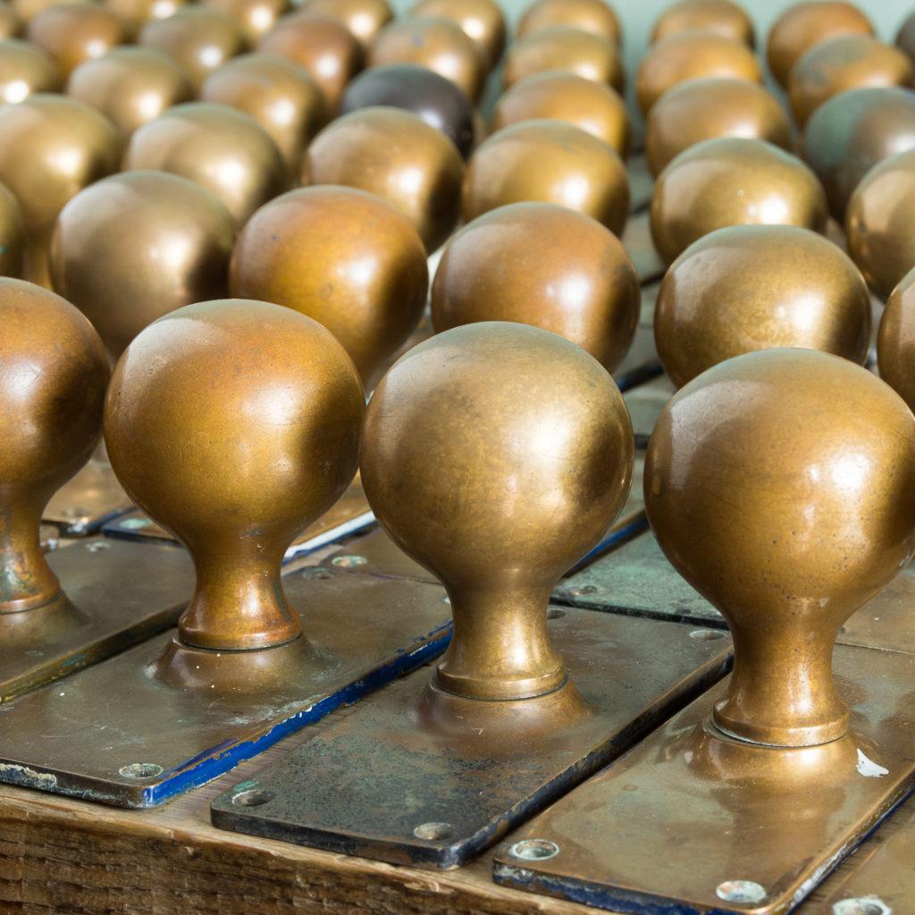 1920s brass door knobs,-113191