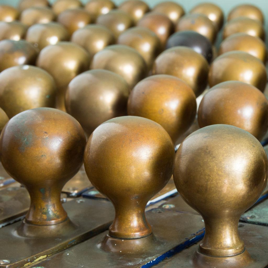 1920s brass door knobs,-113193