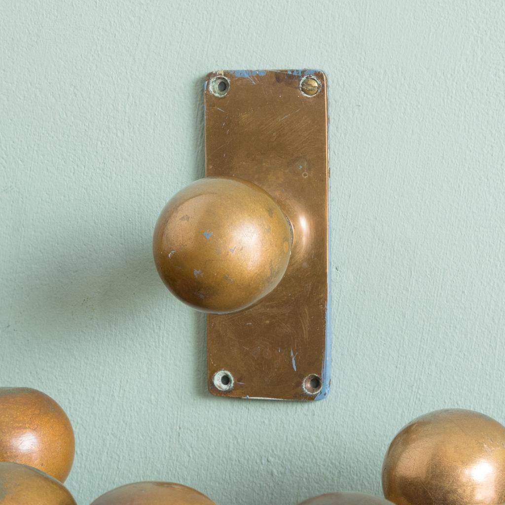 1920s brass door knobs,-113196