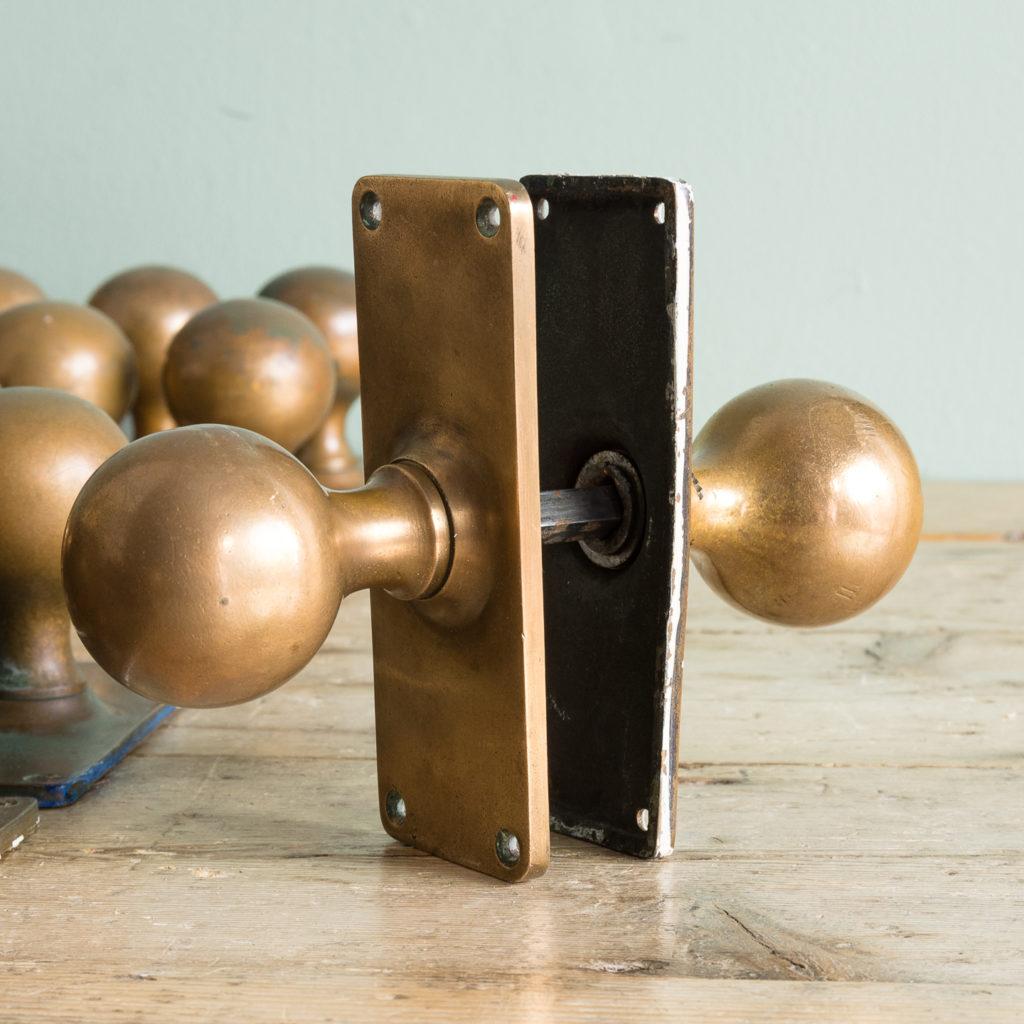 1920s brass door knobs,-113194