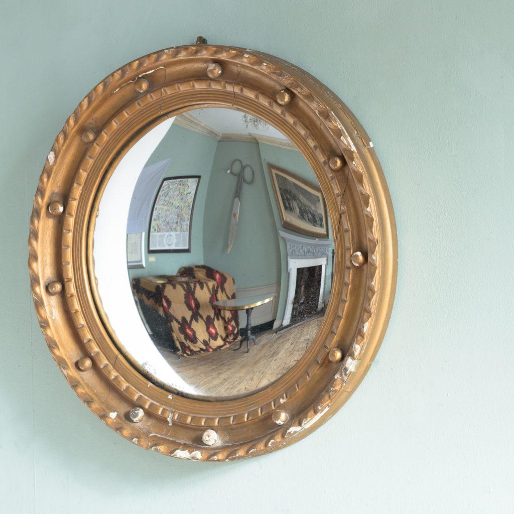 Regency style convex mirror,-113710