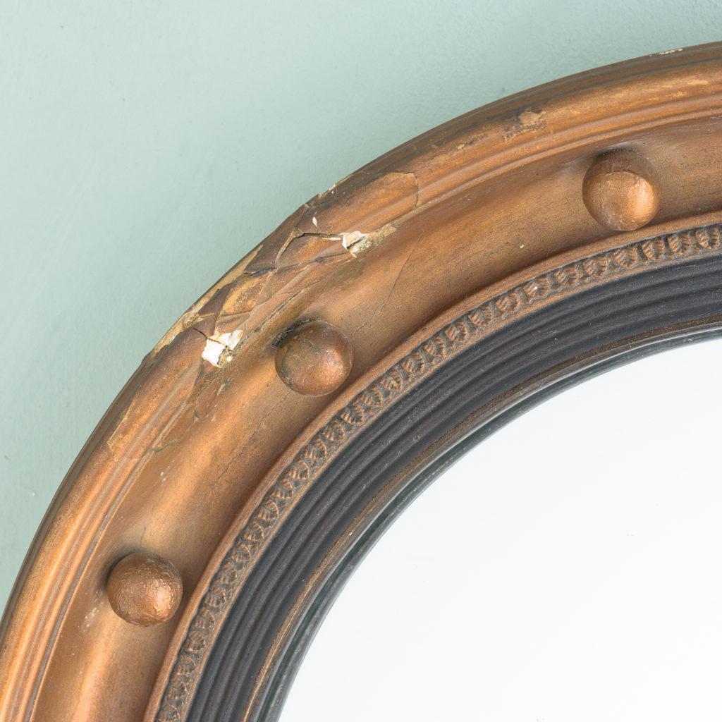 Regency style gilt convex wall mirror,-113964