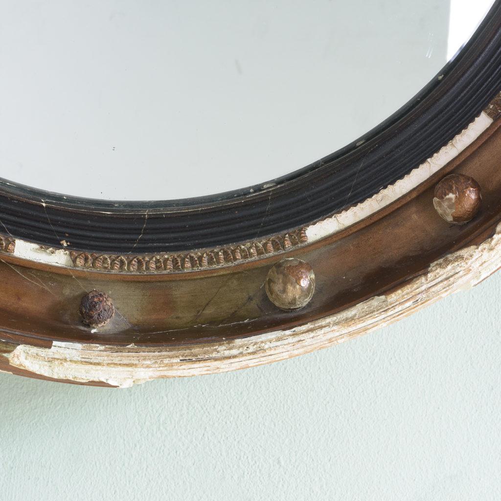 Regency style gilt convex wall mirror,-113961