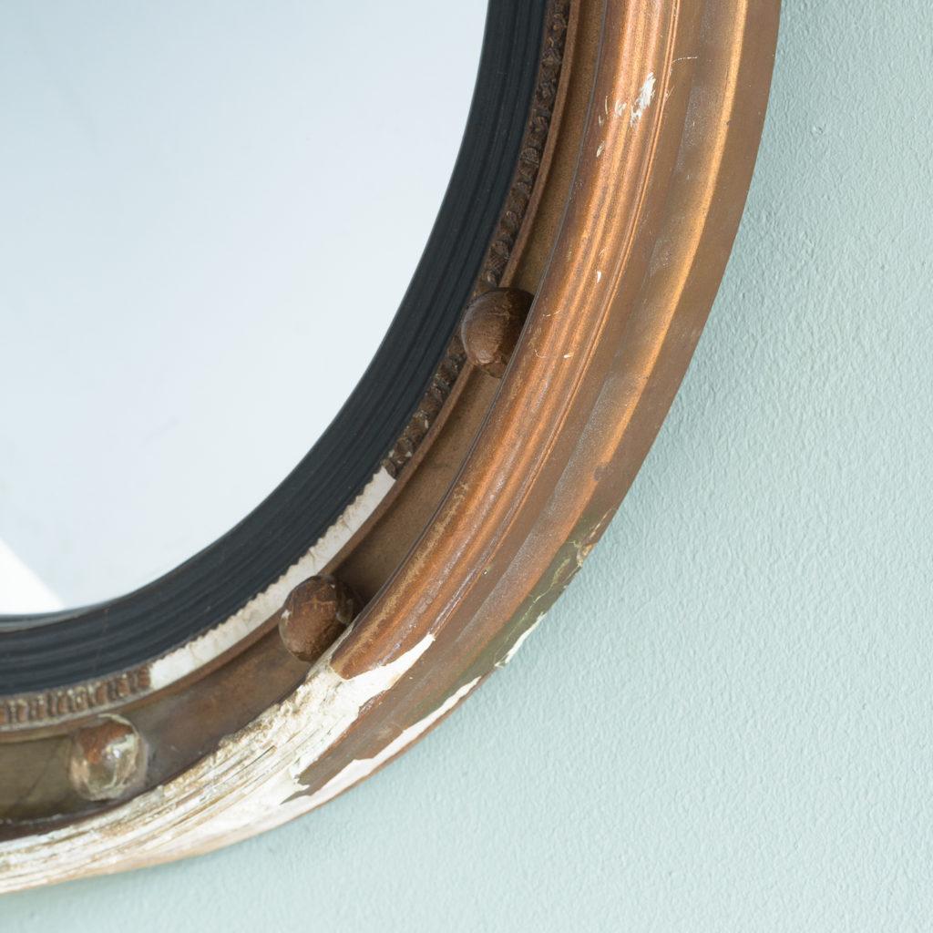 Regency style gilt convex wall mirror,-113963