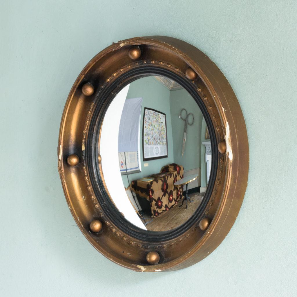 Regency style convex mirror,-113657