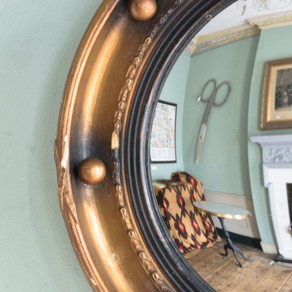 Regency style convex mirror,-113656