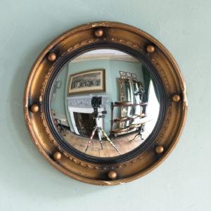 Regency style convex mirror,-0