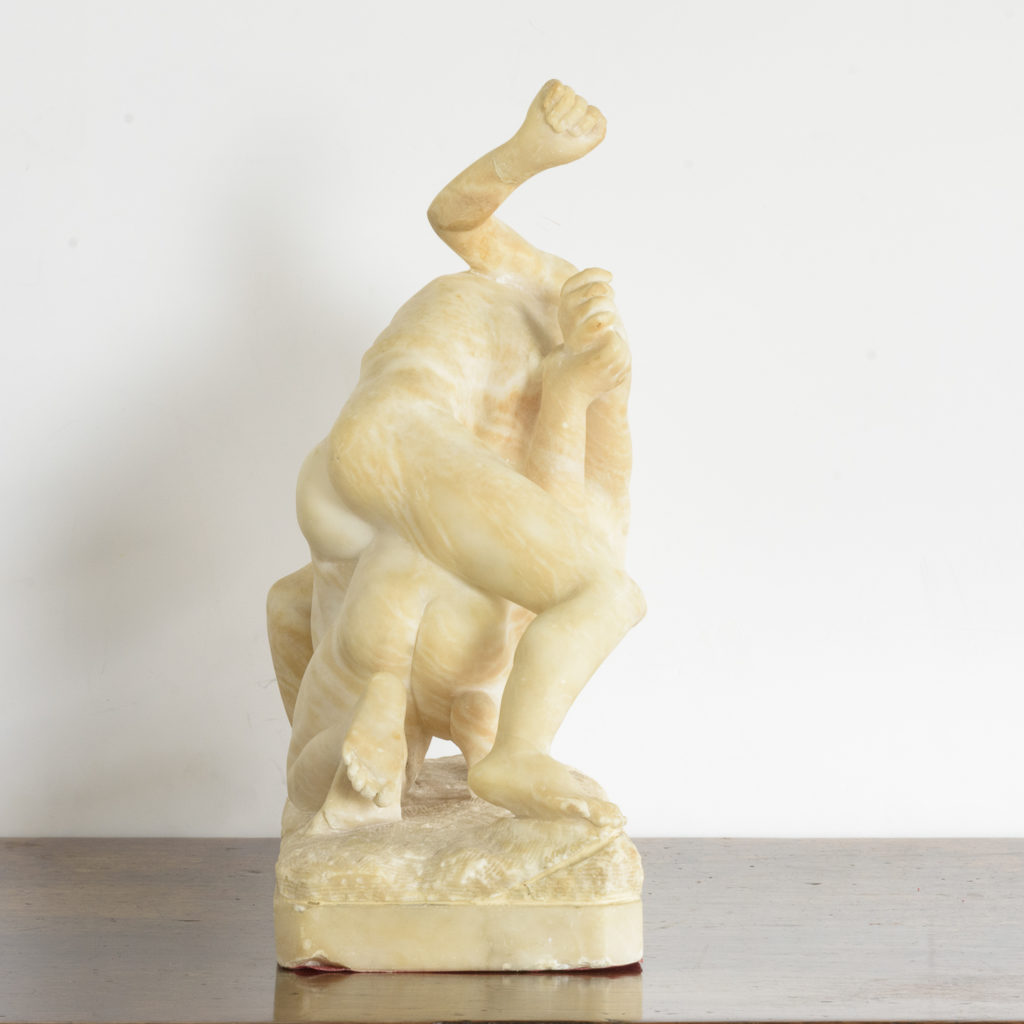Alabaster scultpure of The Uffizi Wrestlers,-113641