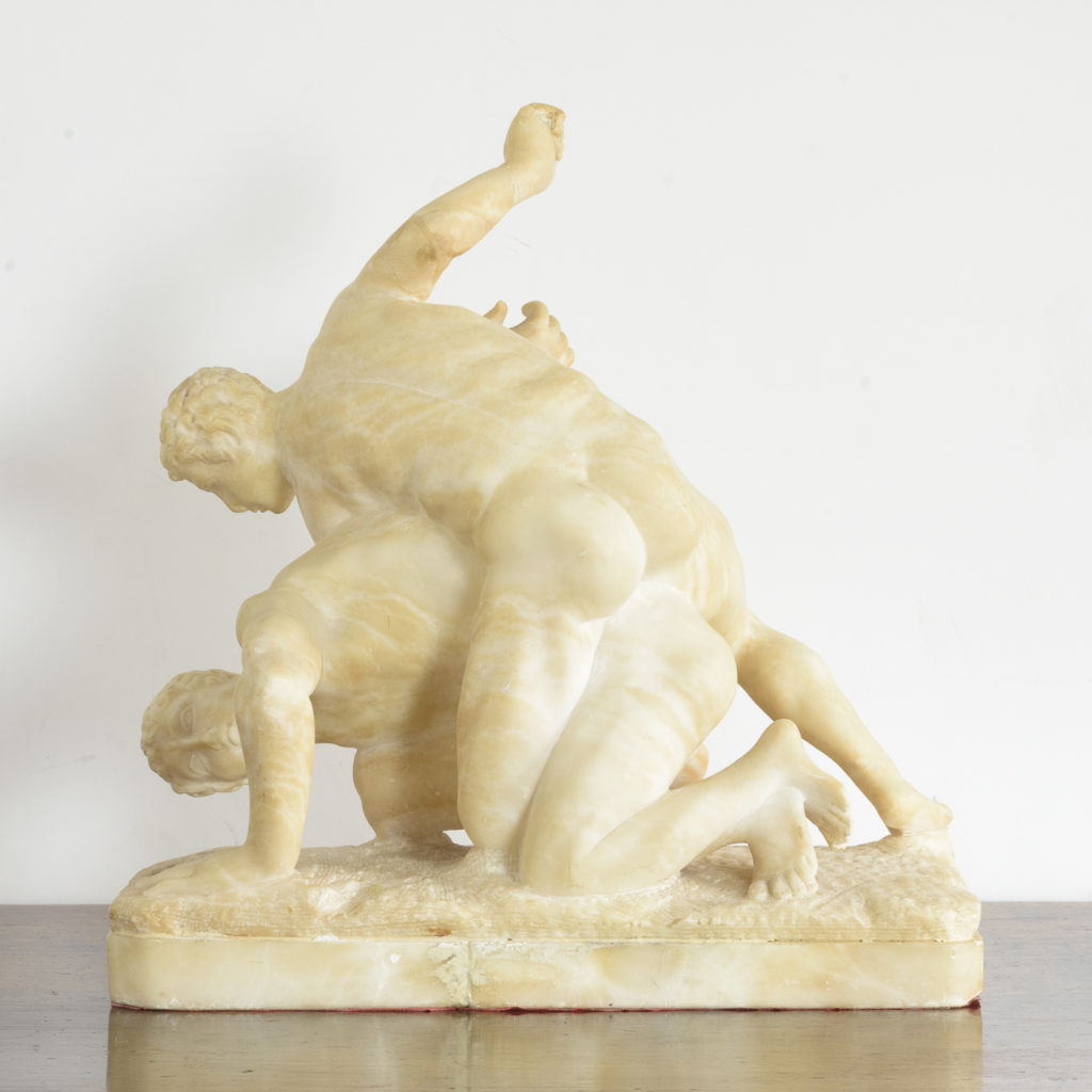Alabaster scultpure of The Uffizi Wrestlers,-113644