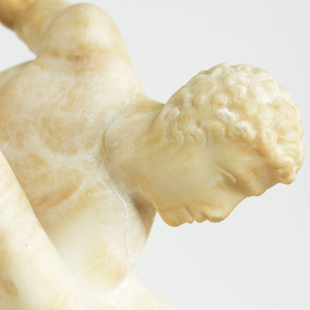 Alabaster scultpure of The Uffizi Wrestlers,-113652