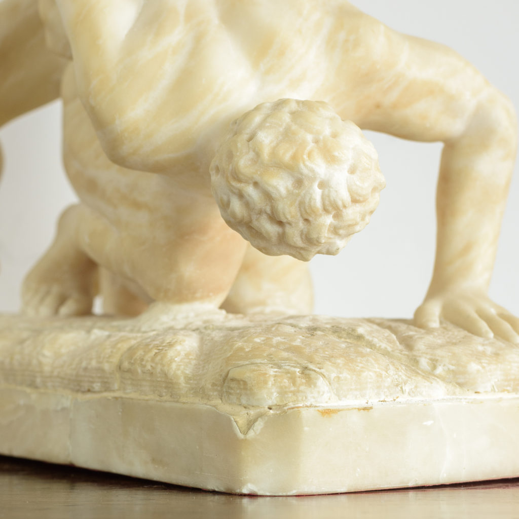 Alabaster scultpure of The Uffizi Wrestlers,-113654