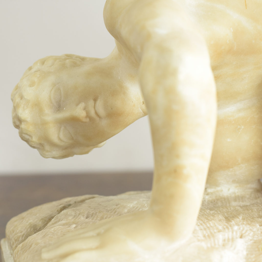 Alabaster scultpure of The Uffizi Wrestlers,-113642