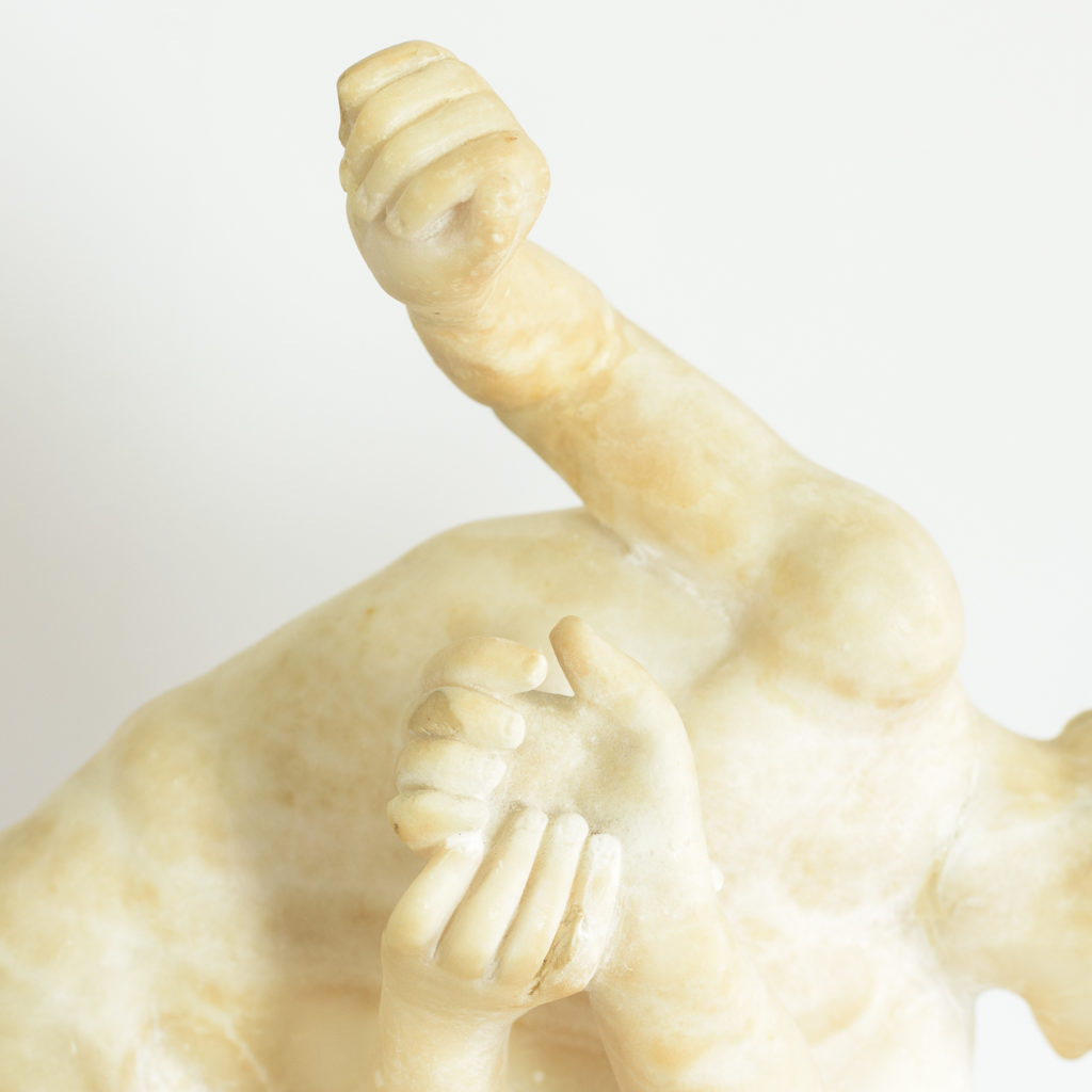 Alabaster scultpure of The Uffizi Wrestlers,-113647