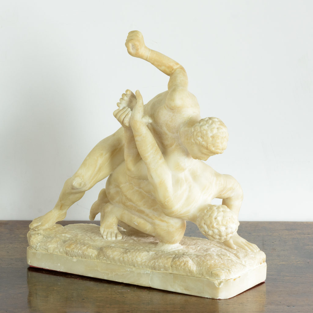 Alabaster scultpure of The Uffizi Wrestlers,-113653