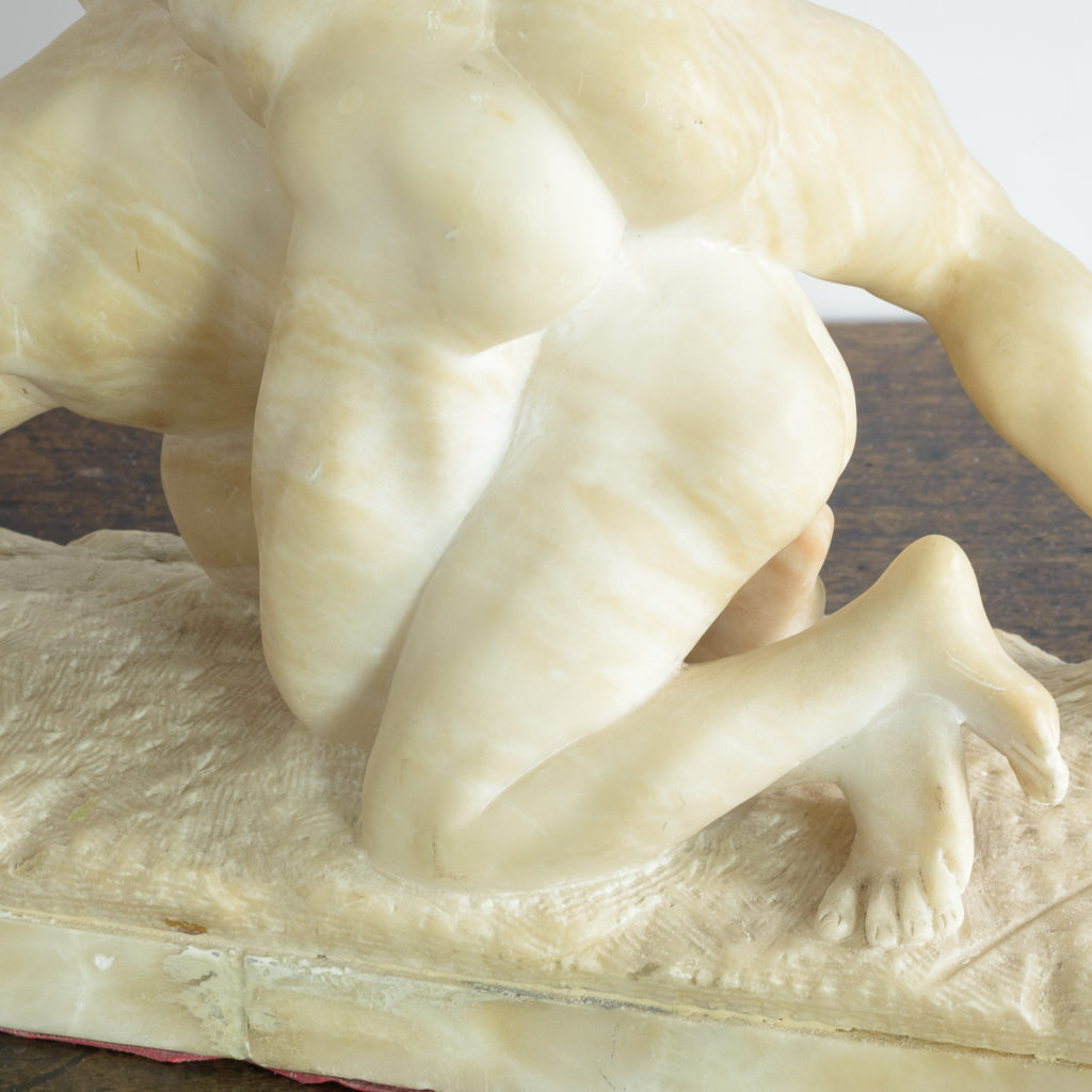 Alabaster scultpure of The Uffizi Wrestlers,-113643