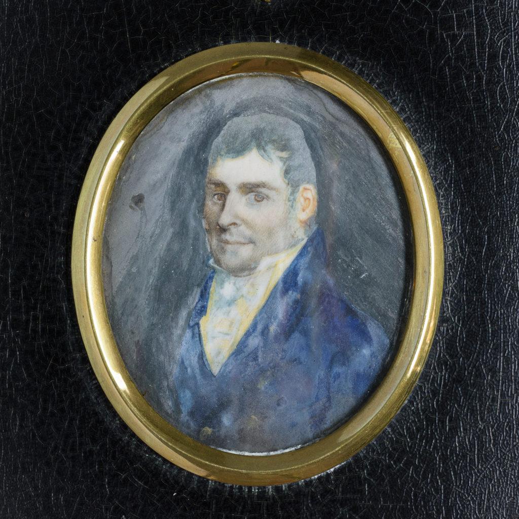 Portrait minature of a gentleman.-113743