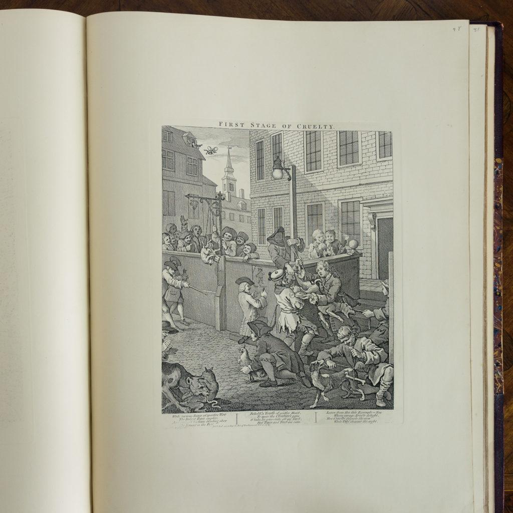 Works of Hogarth, complete folio 1822-114068