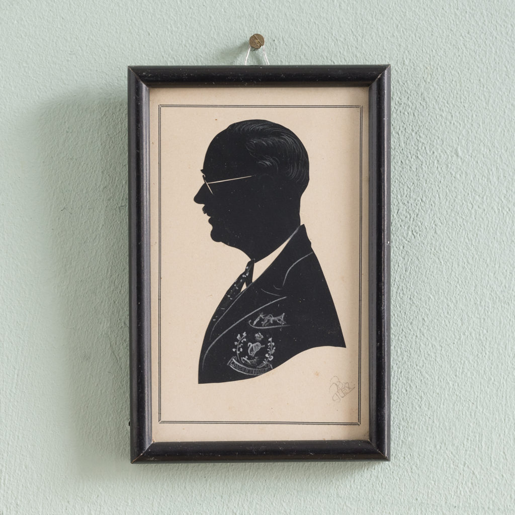 Silhouette portrait of a military gentleman -0