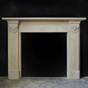A George IV grey sandstone chimneypiece-0