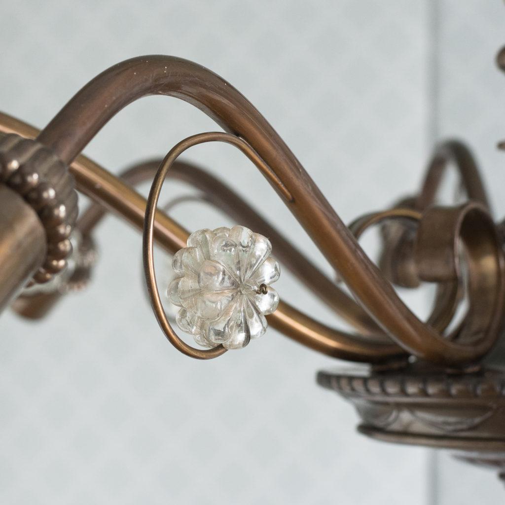 Continental bronzed ten branch chandelier,-114721