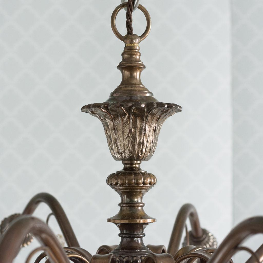Continental bronzed ten branch chandelier,-114719