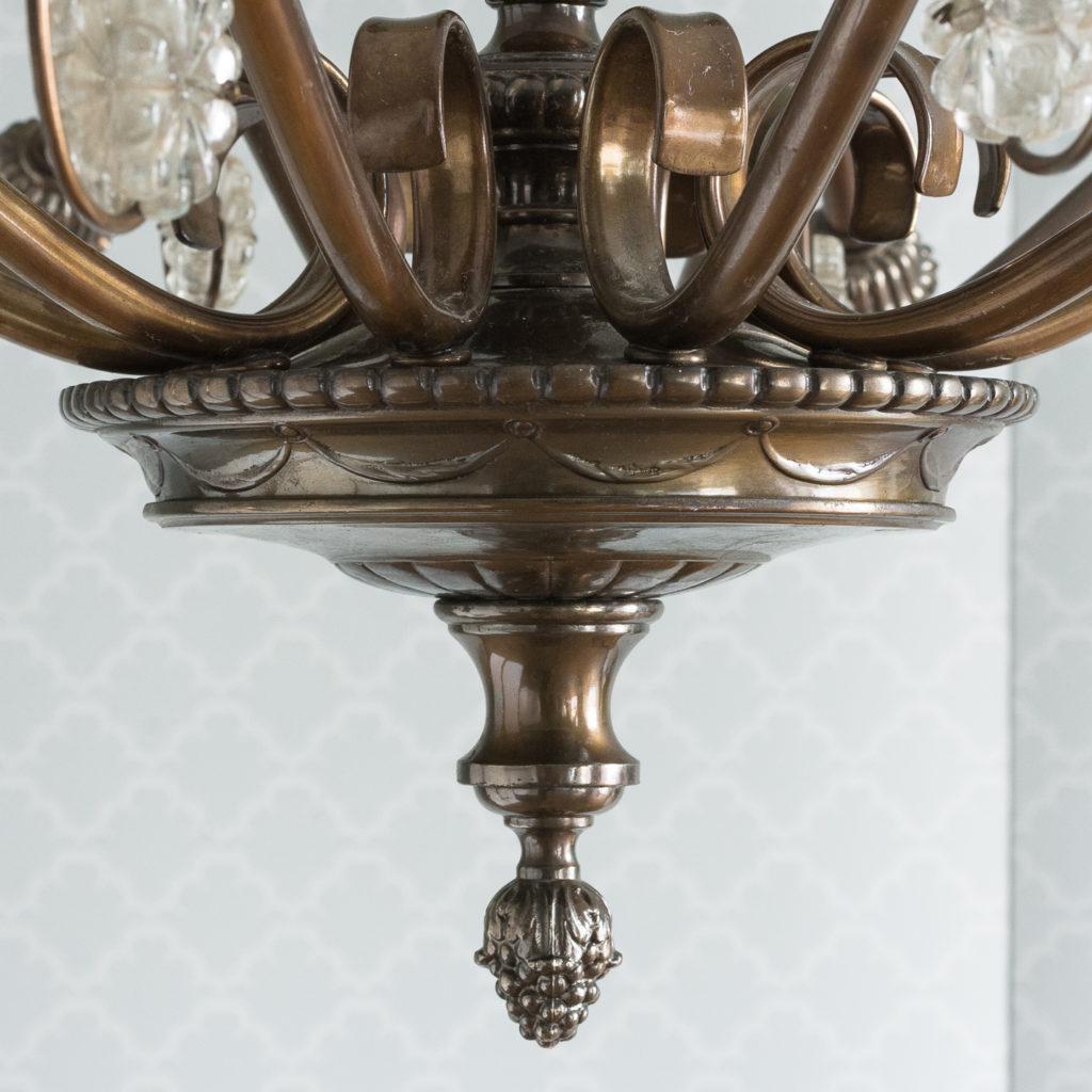 Continental bronzed ten branch chandelier,-114722