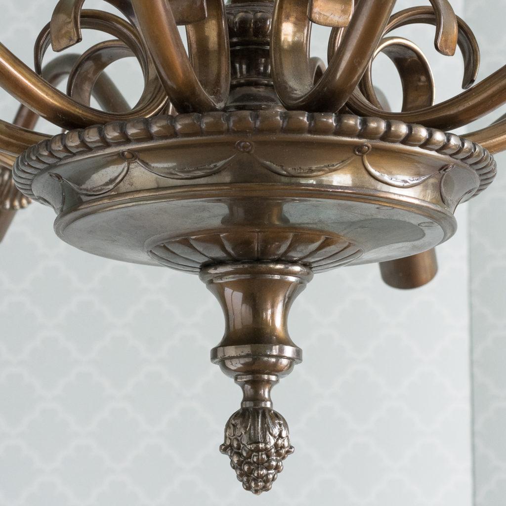Continental bronzed ten branch chandelier,-114718