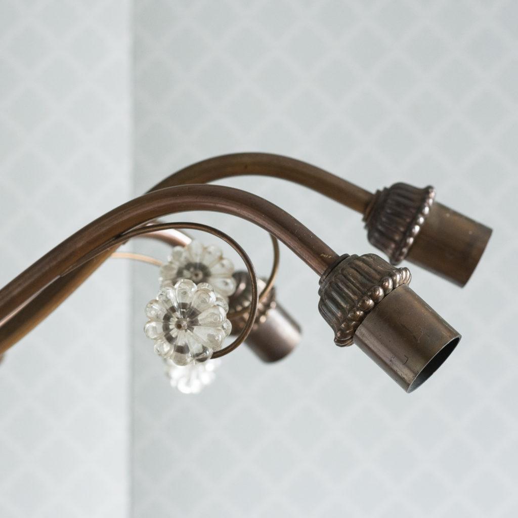 Continental bronzed ten branch chandelier,-114720