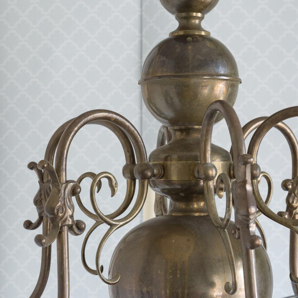 Bronzed Flemish style chandelier,-114919