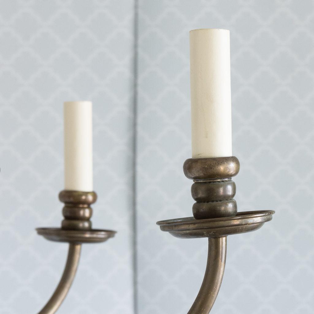 Bronzed Flemish style chandelier,-114920